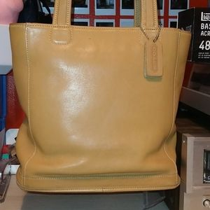 Vintage Coach leather Tote